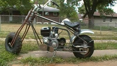 Springer Mini Bike with Fish Tail Exhaust