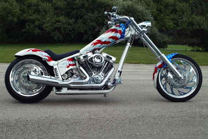 American Flag Chopper