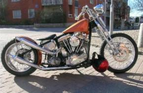 old school custom chopper picture