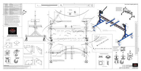 Motorcycle Frame Jig Blue Prints on shelf ideas