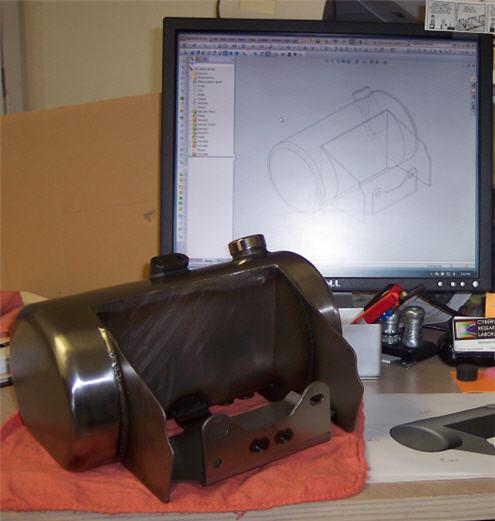 building motorcycle oil tank