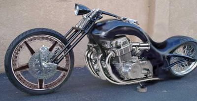 honda chopper rendering
