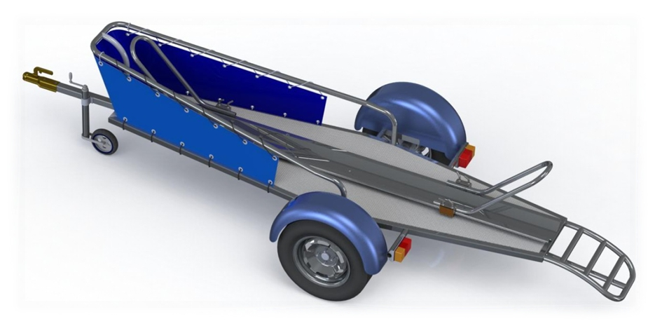 Single Motorcycle Trailer Assembly