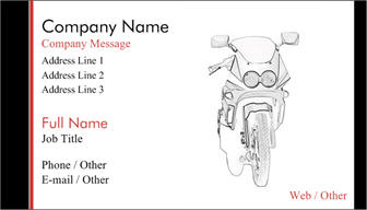 chopper business card