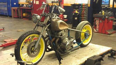 1975 Honda CB750a Bobber