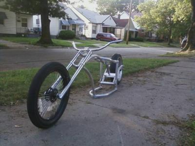 Air ride Chopper Moped