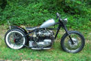 customized triumph chopper