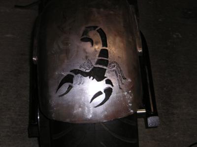 custom rear fender