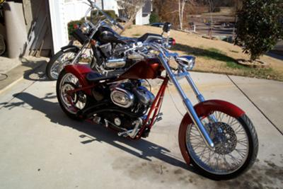 custom rigid sportster chopper