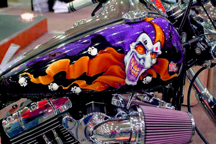 custom motorcycle paint job