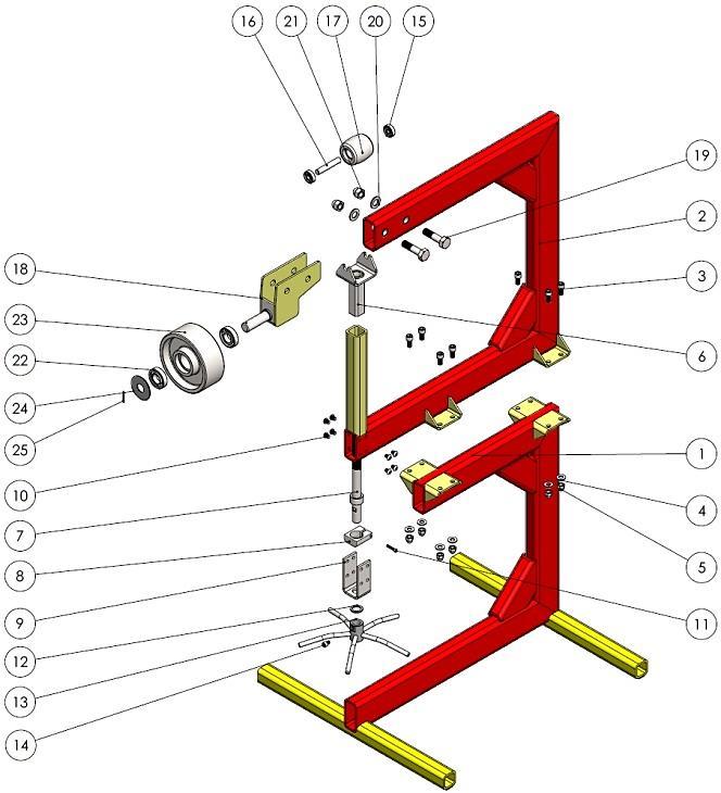 english wheel assembly plan
