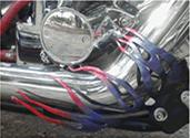 custom exhaust metal flames
