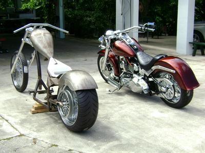 2007 fatboy and project chopper