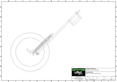 Inverted Springer Forks CAD Drawing