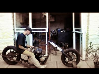 Sitting On Kawasaki GP 750 Chopper