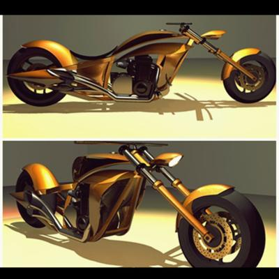 Kawasaki Chopper 3D Construction