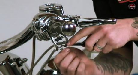 locking throttle cable down