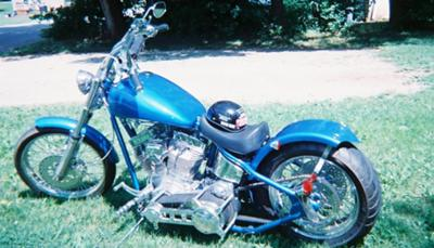 hand built frame custom chopper