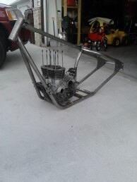 mounted motor on bike frame