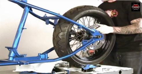 mount rear wheel