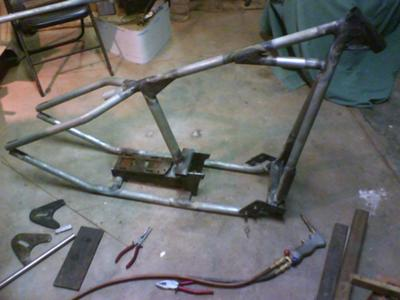 rigid shovelhead bobber frame