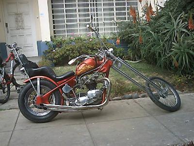 650 cc Triumph Bonneville Chopper