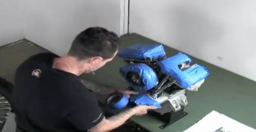 taping engine for chrome protection