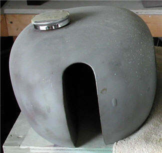 sanded gas tank