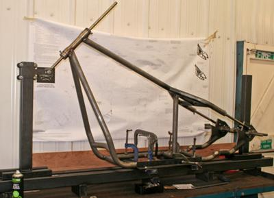 Softail Frame In Jig