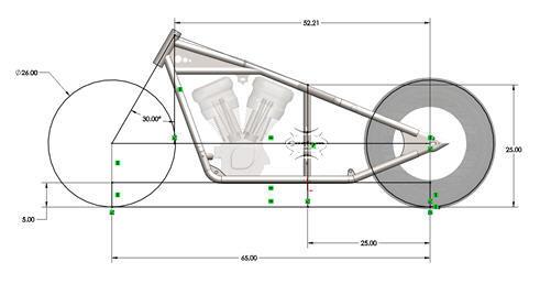 sportster frame drawing2