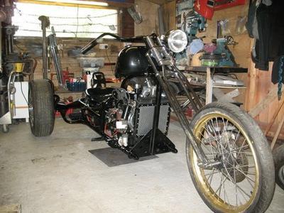 Black custom trike