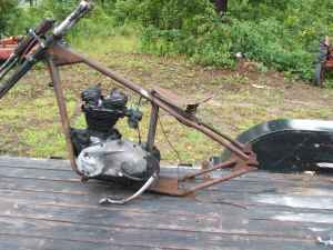 Tiumph Chopper Frame