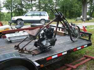 Hauling Totalled Triumph