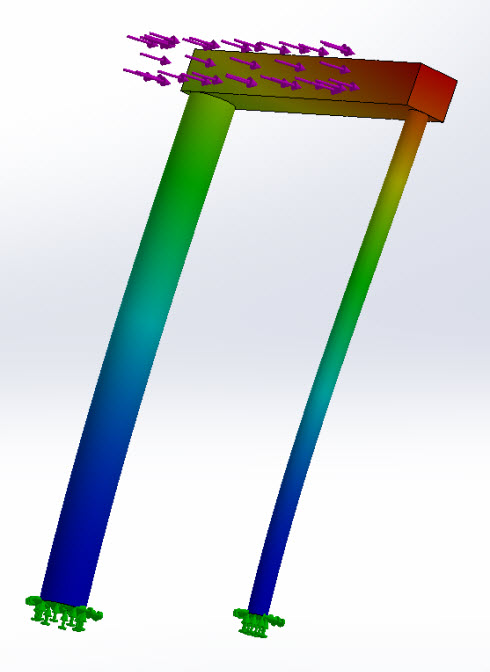 frame tubing and rod stress test