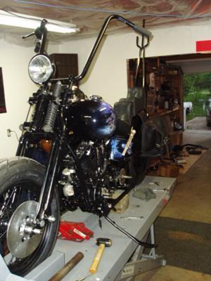 1957 Panhead Harley