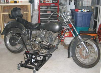 Stretched And Raked Ironhead Back In Work 2009