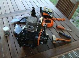mini chopper engine