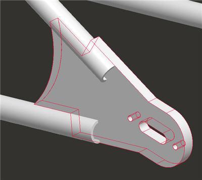 bobber frame axle plate