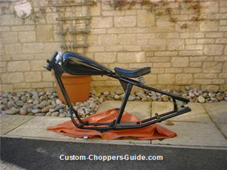 custom made motorcycle frame