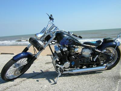 Blue on Black CB 750
