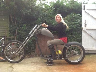 Hardbelly on her new chopper