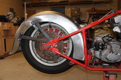 Custom rear fender brackets