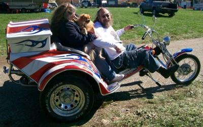 The trike was only fit to polish and run in fields at shows after the crash, worked hard to get it safe for the road.