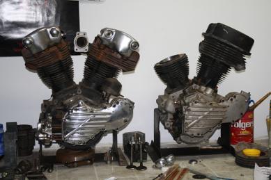 Panhead and Knucklehead Engine
