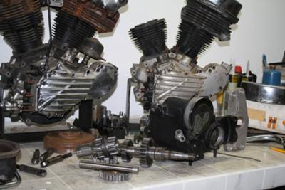Panhead Knucklhead Engines