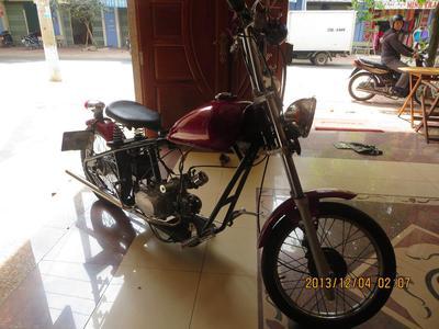 100cc Honda Red Chopper