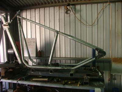 home made rigid chopper frame