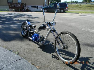 Occ Chopper Bike Stretched Raked And Lowered