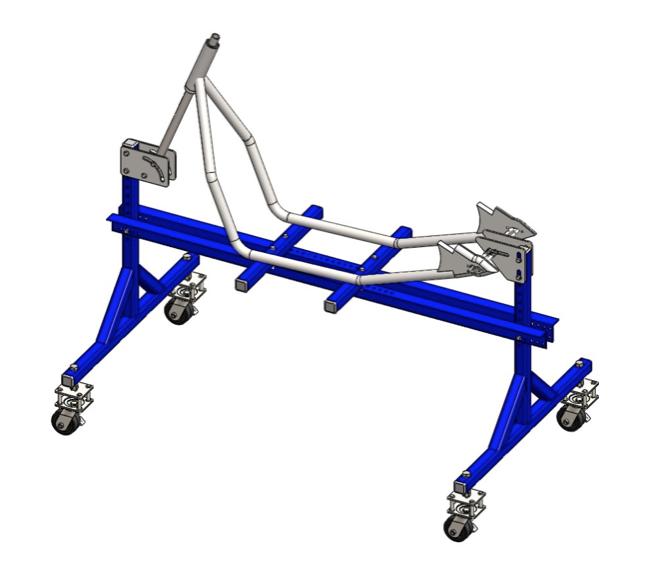 Motorcycle Jig Plans : Rigid bobber frame assembly