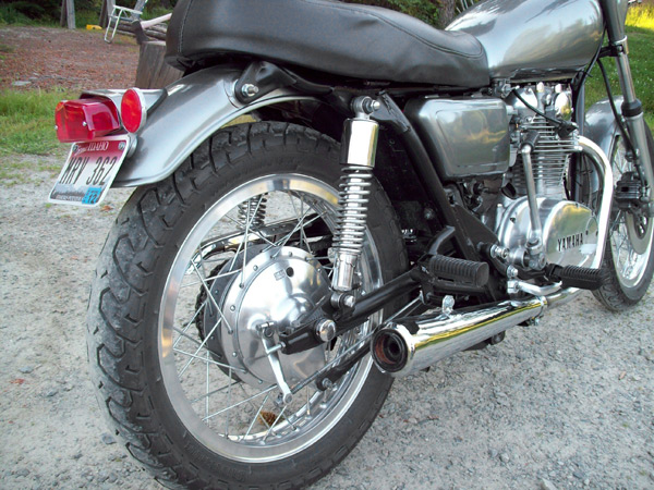 restored xs650 exhaust